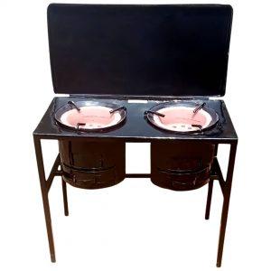 Medium Open Double Burner Stove