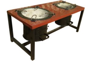 Commercial Open Double Burner Stove