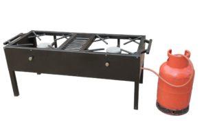 Ex-Large Double Burner LPG Stove – Commercial